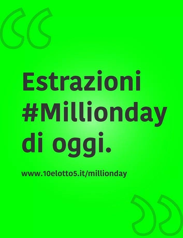 Video Estrazioni Millionday 28 ott 2019