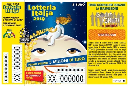 Biglietto lotteria Italia 2019