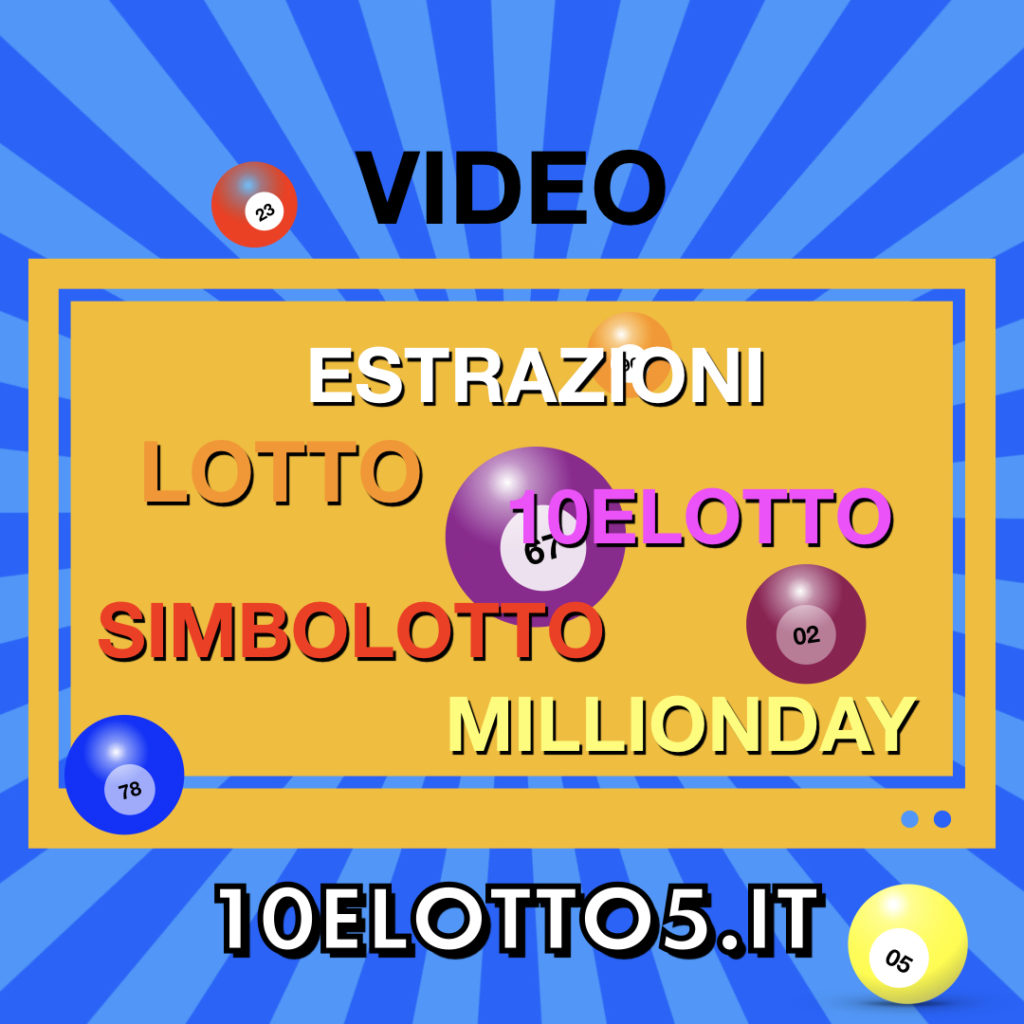 Video Estrazioni Lotto 10eLotto Millionday 09 Nov 2019