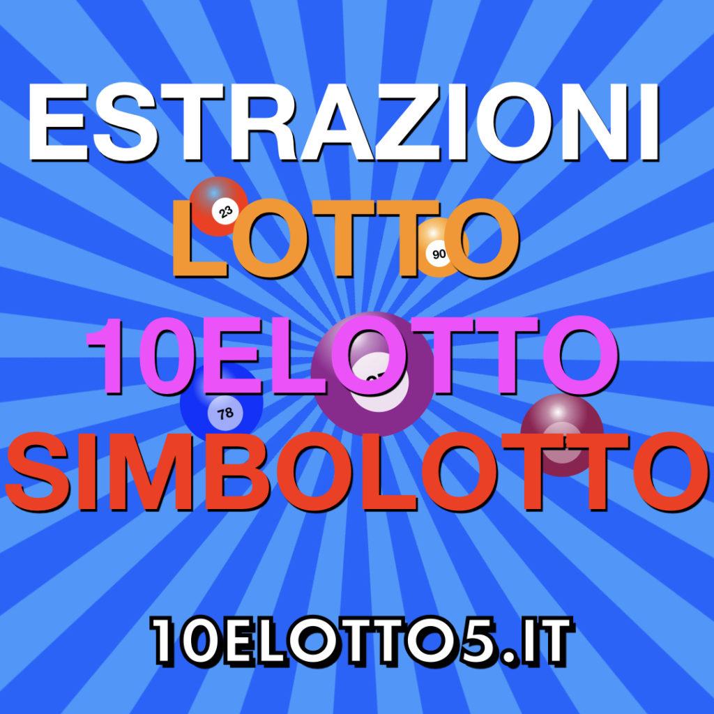 Controlla su 10elotto5.it le ultime estrazioni del Lotto, 10eLotto con numero oro e doppio oro, Simbolotto, e la combinazione vincente del Millionday di Sabato 08  febbraio 2020.