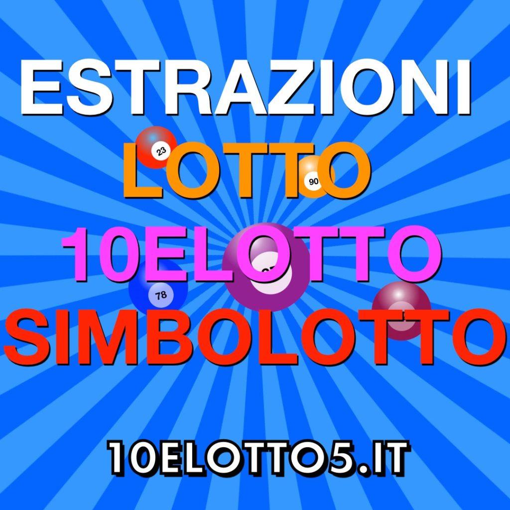 Estrazioni del Lotto,10eLotto e Simbolotto di Sabato 03 Ottobre 2020