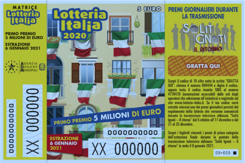 Lotteria Italia 2020/2021 premi giornalieri I Soliti Ignoti