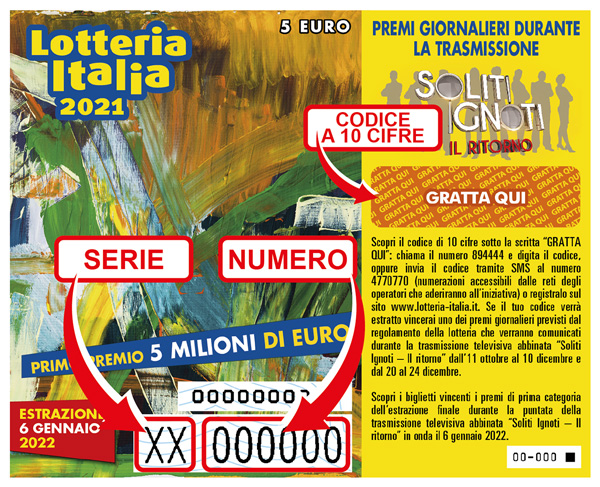 LOTTERIA ITALIA 2021-2022 I Soliti Ignoti